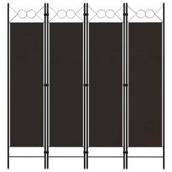 stradeXL Parawan 4-panelowy, brązowy, 160 x 180 cm