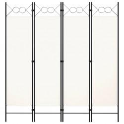stradeXL Parawan 4-panelowy, biały, 160 x 180 cm
