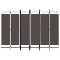 stradeXL Parawan 6-panelowy, antracytowy, 240 x 180 cm