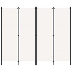 stradeXL Parawan 4-panelowy, kremowy, 200 x 180 cm