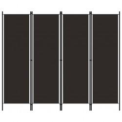 stradeXL Parawan 4-panelowy, brązowy, 200 x 180 cm