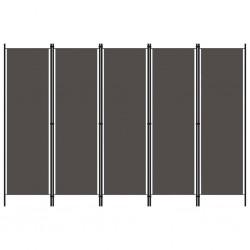 stradeXL Parawan 5-panelowy, antracytowy, 250 x 180 cm