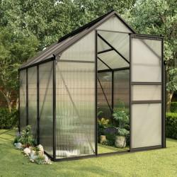 stradeXL Greenhouse Anthracite Aluminium 3.61 m²