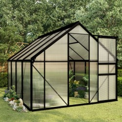 stradeXL Greenhouse Anthracite Aluminium 4.75 m²