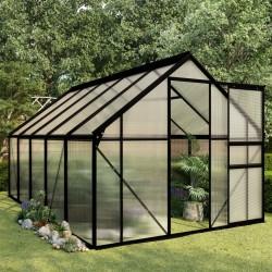 stradeXL Greenhouse Anthracite Aluminium 5.89 m²