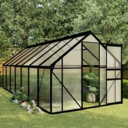 stradeXL Greenhouse Anthracite Aluminium 8.17 m²