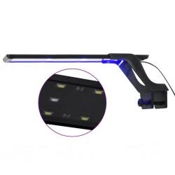 stradeXL Lampa LED do akwarium, z zaciskiem, 35-55 cm, niebiesko-biała