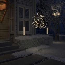 stradeXL Drzewko z lampkami, 220 LED, ciepły biały, kwiat wiśni, 220 cm