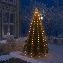 stradeXL Lampki choinkowe w formie siatki, 250 LED, IP44, 250 cm