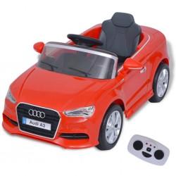 stradeXL Elektryczny samochód dla dzieci z pilotem Audi A3 czerwone