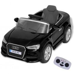 stradeXL Elektryczny samochód dla dzieci z pilotem Audi A3 czarne