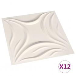 stradeXL 12 pcs Wall Panels 3D 0.5x0.5 m 3 m²