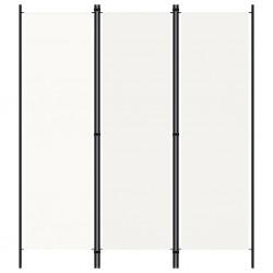 stradeXL Parawan 3-panelowy, kremowy, 150 x 180 cm
