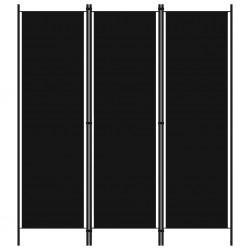 stradeXL Parawan 3-panelowy, czarny, 150 x 180 cm