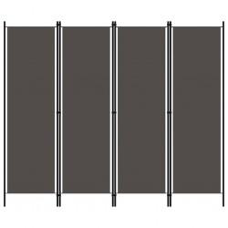stradeXL Parawan 4-panelowy, antracytowy, 200 x 180 cm