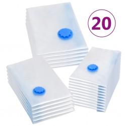 stradeXL Vacuum Travel Storage Bags Clothing Bags 3 Sizes 20 pcs