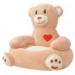 stradeXL Fotel dla dzieci miś, pluszowy, brązowy