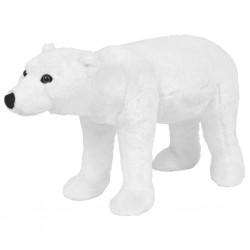 stradeXL Pluszowy niedźwiedź polarny, stojący, biały, XXL