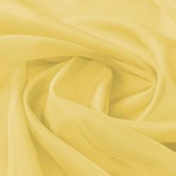 stradeXL Tkanina woal 1,45 x 20 m, żółta