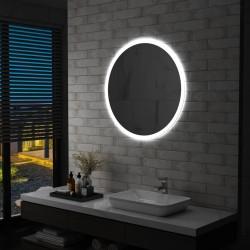 stradeXL Lustro łazienkowe z LED, 80 cm