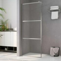 stradeXL Ścianka prysznicowa, przezroczyste szkło ESG, 115 x 195 cm