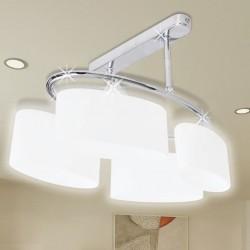 stradeXL Lampa sufitowa, 4 żarówki E14, klosze w kształcie elipsy