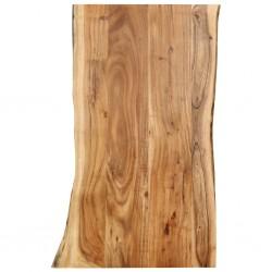 stradeXL Blat, lite drewno akacjowe, 100x(50-60)x2,5 cm