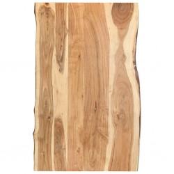 stradeXL Blat, lite drewno akacjowe, 100x(50-60)x3,8 cm