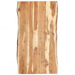 stradeXL Blat, lite drewno akacjowe, 120x(50-60)x3,8 cm