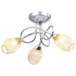 stradeXL Lampa sufitowa z pozłacanymi kloszami na 3 żarówki G9