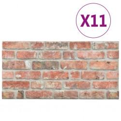 stradeXL Panele ścienne 3D, wzór czerwonej cegły, 11 szt., EPS