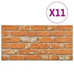 stradeXL Panele ścienne 3D, wzór jasnobrązowej cegły, 11 szt., EPS