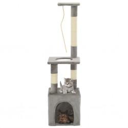 stradeXL Drapak dla kota ze słupkami sizalowymi, 109 cm, szary