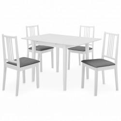 stradeXL 5-częściowy zestaw mebli do jadalni, MDF, biały