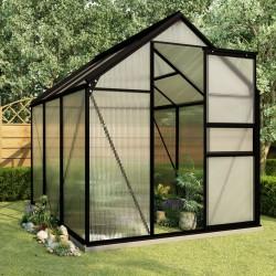 stradeXL Greenhouse with Base Frame Anthracite Aluminium 3.61 m²