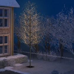 stradeXL Drzewko z lampkami, 2000 LED, ciepły biały, kwiat wiśni, 500 cm