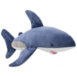stradeXL Pluszowy rekin biały przytulanka, niebiesko-biały