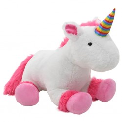 stradeXL Pluszowy jednorożec przytulanka, różowo-biały