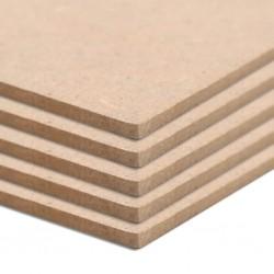 stradeXL Płyty MDF, 20 szt., kwadratowe, 60 x 60 cm x 2,5 mm