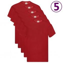 Fruit of the Loom Oryginalne T-shirty, 5 szt., czerwone, XL, bawełna