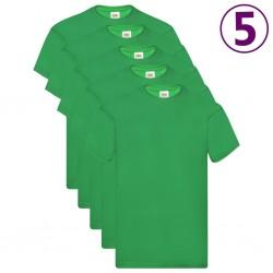 Fruit of the Loom Oryginalne T-shirty, 5 szt., zielone, L, bawełna