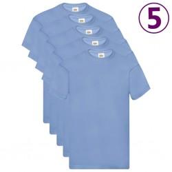 Fruit of the Loom Oryginalne T-shirty, 5 szt., błękitne, XL, bawełna