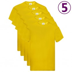 Fruit of the Loom Oryginalne T-shirty, 5 szt., żółte, M, bawełna