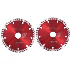 stradeXL Tarcze diamentowe ze stalą turbo, 2 szt., 125 mm