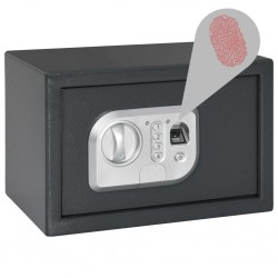 stradeXL Digital Safe with Fingerprint Dark Grey 31x20x20 cm