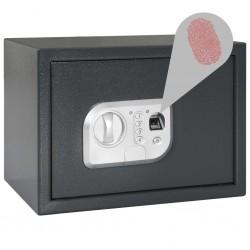 stradeXL Digital Safe with Fingerprint Dark Grey 35x25x25 cm