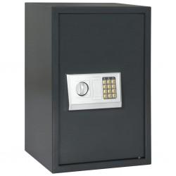 stradeXL Digital Safe Dark Grey 40x35x60 cm