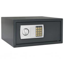 stradeXL Digital Safe Dark Grey 42x37x20 cm