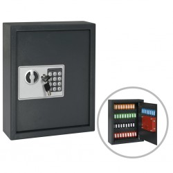 stradeXL Key Safe Dark Grey 30x10x36.5 cm