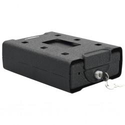 stradeXL Car Safe Black 21.8x16x7 cm Steel